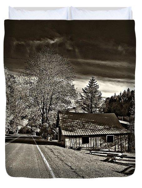 Helvetia Wv Monochrome Duvet Cover by Steve Harrington