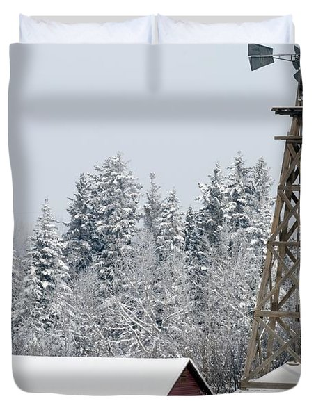 Heritage Park Historical Village Duvet Cover by Michael Interisano