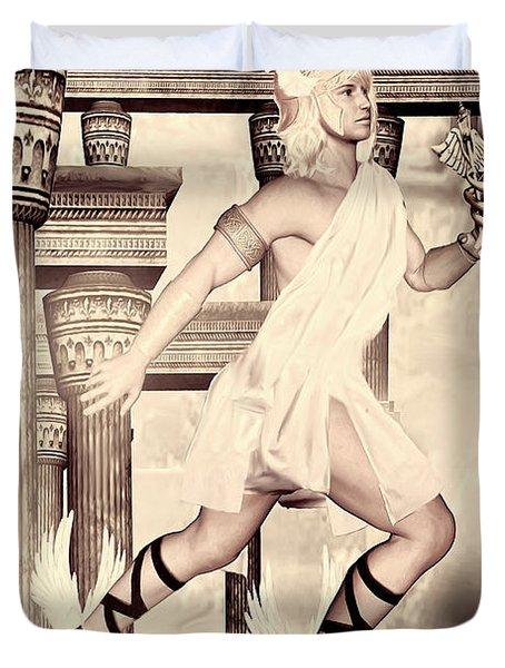 Hermes Duvet Cover by Lourry Legarde