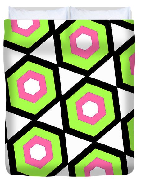 Hexagon Duvet Cover by Louisa Knight