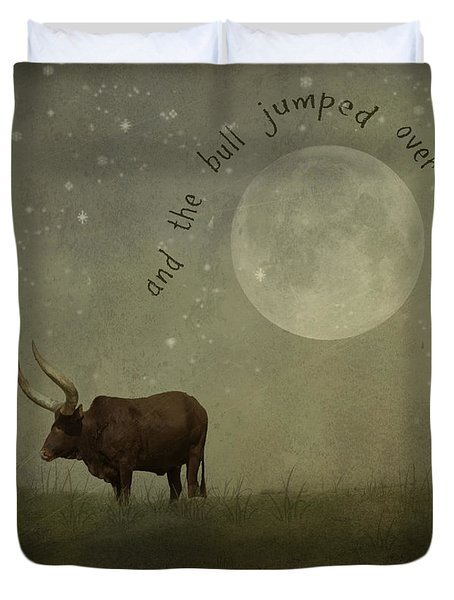 Hey Diddle Diddle  Duvet Cover by Juli Scalzi