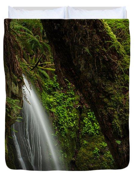 Hidden Falls Duvet Cover by Mike Reid