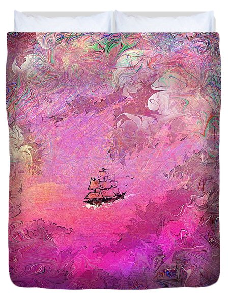 Hidden Treasure Duvet Cover by Rachel Christine Nowicki