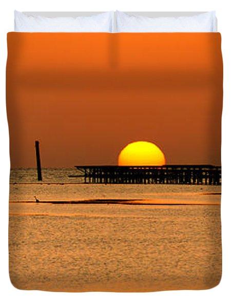 Hiding Sun Duvet Cover by Sun Travels
