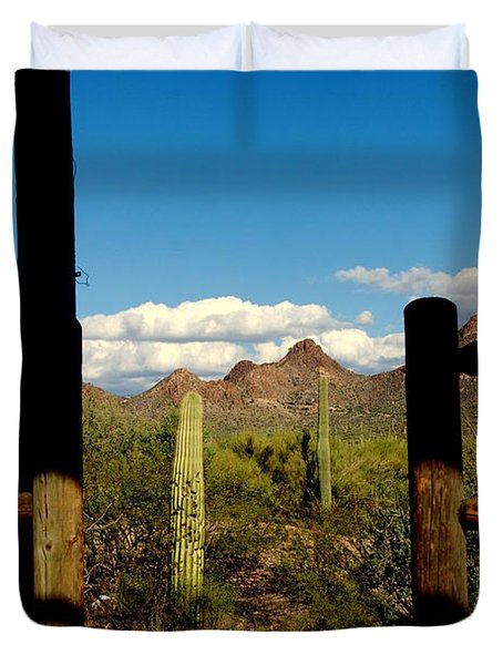 High Chaparral Old Tuscon Arizona  Duvet Cover by Susanne Van Hulst