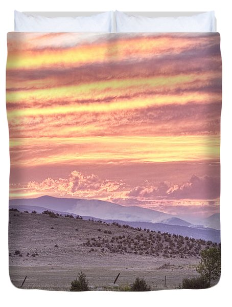 High Park Fire Larimer County Colorado At Sunset Duvet Cover by James BO  Insogna