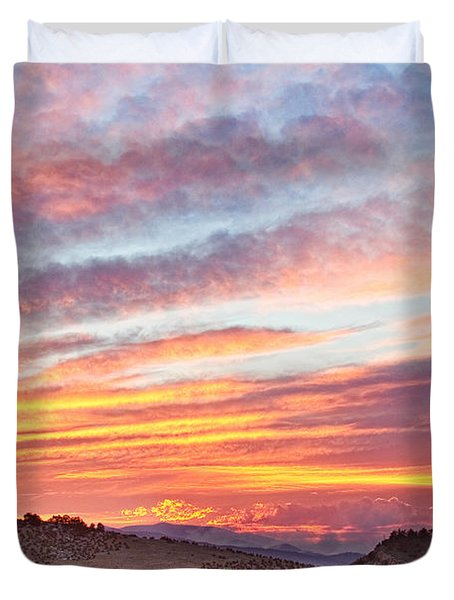 High Park Wildfire Sunset Sky Duvet Cover by James BO  Insogna