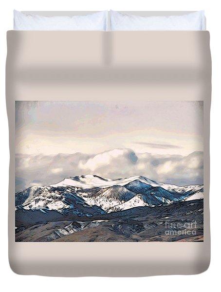 High Sierra Mountains Duvet Cover by Phyllis Kaltenbach