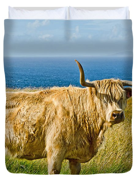 Highland Cow Duvet Cover by Chris Thaxter