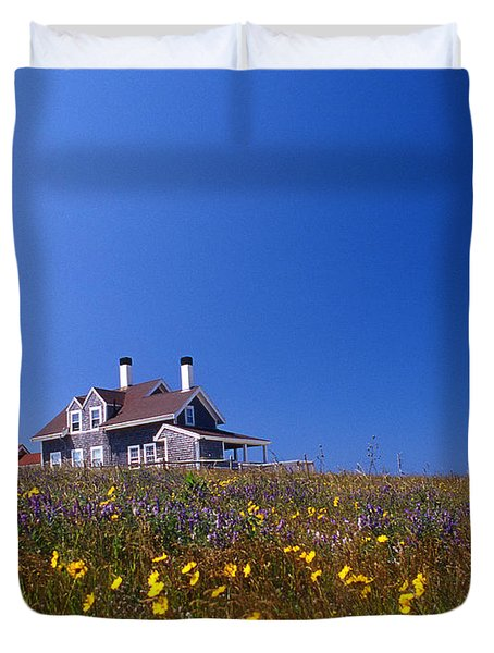 Highland Lighthouse Cape Cod Duvet Cover by Skip Willits
