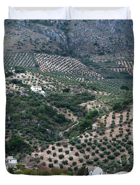 Hills Dales and Vineyards Duvet Cover by Lorraine Devon Wilke