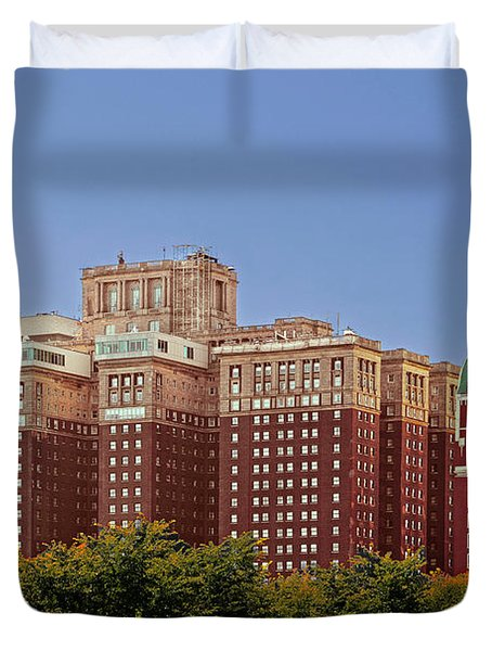Hilton Chicago And Blackstone Hotel Duvet Cover by Christine Till
