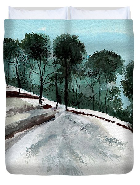 Himalaya 2 Duvet Cover by Anil Nene