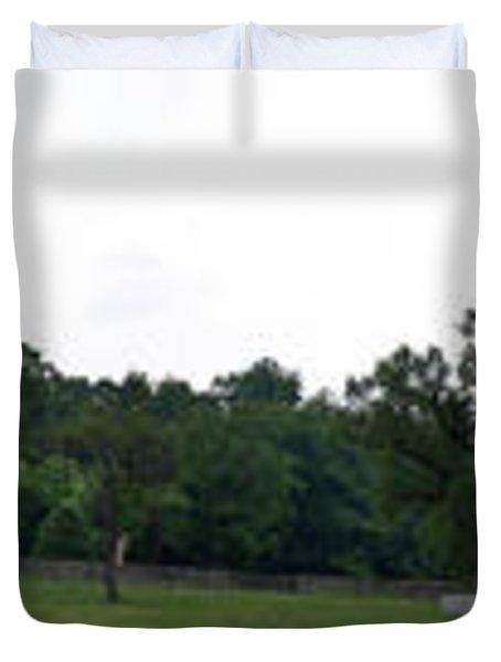 Historic Appomattox Panorama  Duvet Cover by Teresa Mucha