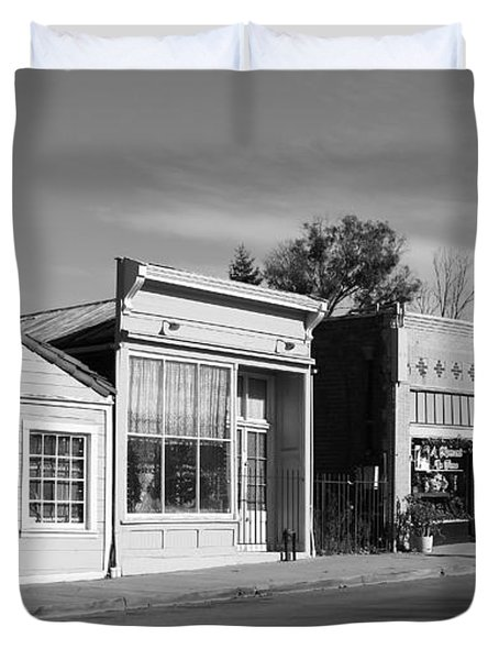 Historic Niles District in California Near Fremont . Main Street . Niles Boulevard . 7D10676  . bw Duvet Cover by Wingsdomain Art and Photography