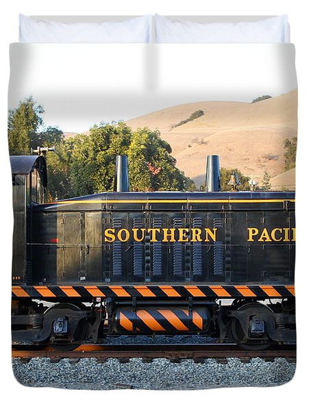 Historic Niles Trains in California . Old Southern Pacific Locomotive . 7D10867 Duvet Cover by Wingsdomain Art and Photography