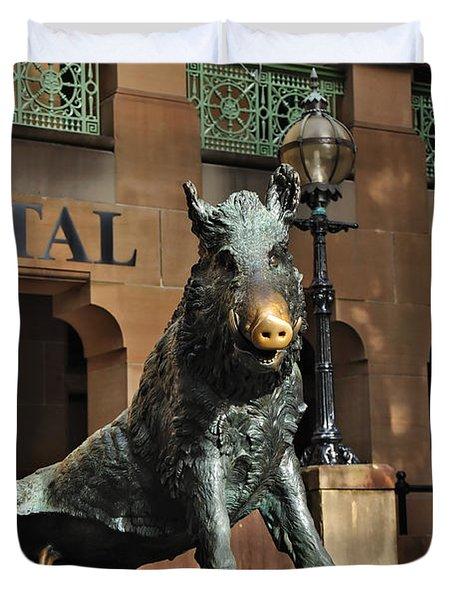 Historic Sydney Hospital - Florentine Boar Duvet Cover by Kaye Menner