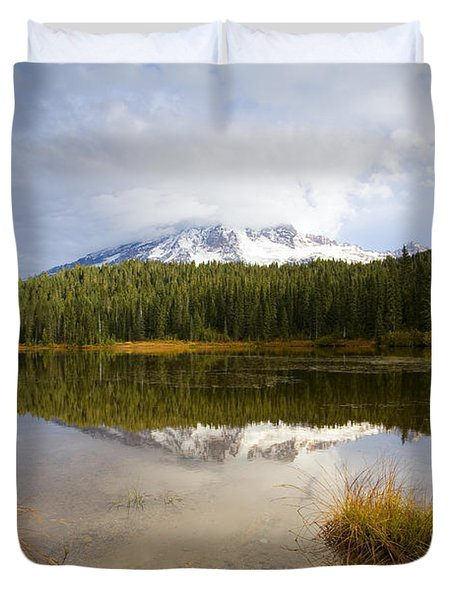 Holding Back The Tempest Duvet Cover by Mike  Dawson