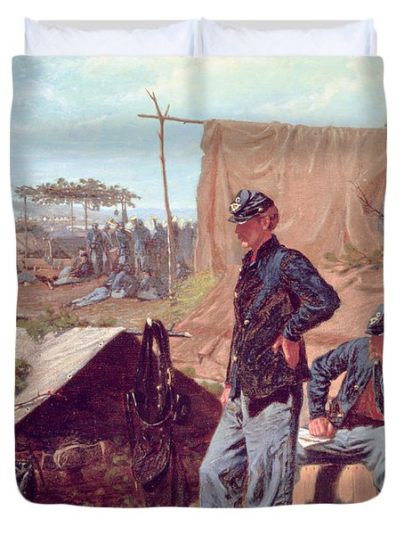 Home Sweet Home Duvet Cover by Winslow Homer