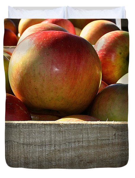 Honey Crisp Duvet Cover by Susan Herber