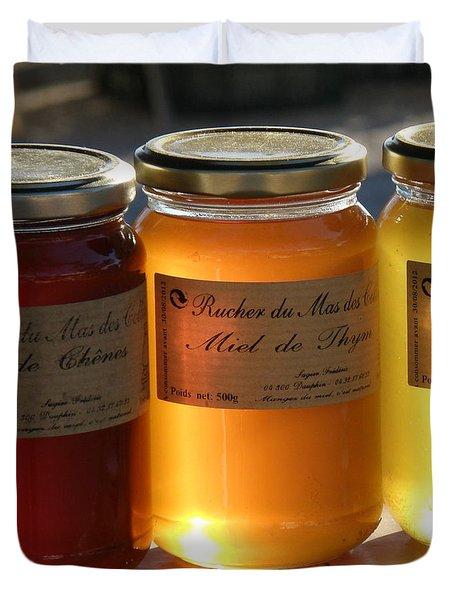 Honey Duvet Cover by Lainie Wrightson