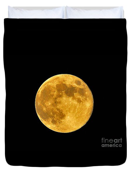 Honey Moon Close Up Duvet Cover by Al Powell Photography USA