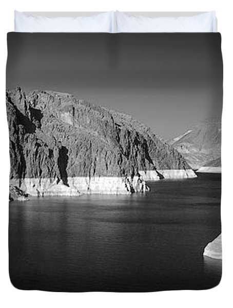 Hoover Dam Reservoir - Architecture on a grand scale Duvet Cover by Christine Till