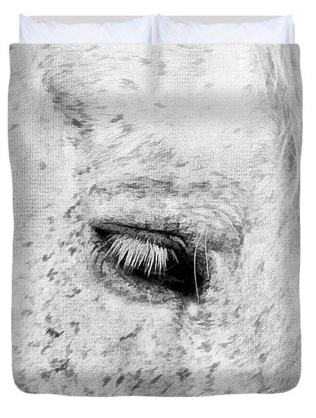 Horse Eye Duvet Cover by Darren Fisher