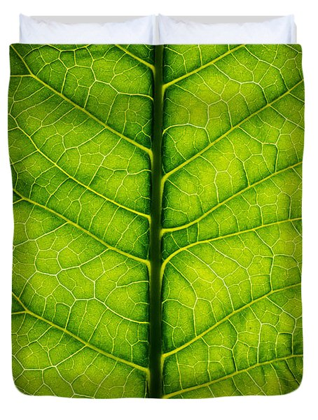 Horseradish Leaf Duvet Cover by Steve Gadomski
