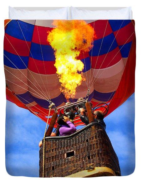 Hot Air Balloon Duvet Cover by Carlos Caetano