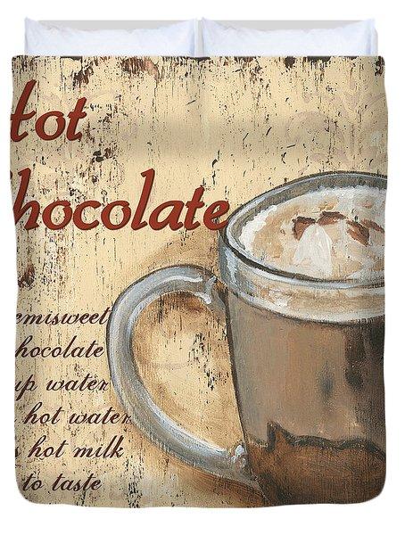 Hot Chocolate Duvet Cover by Debbie DeWitt