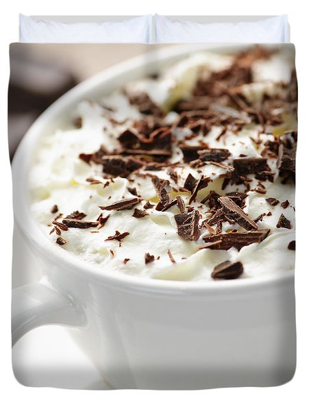 Hot Chocolate Duvet Cover by Elena Elisseeva