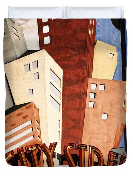 Hot City Streets Duvet Cover by Joan Carroll
