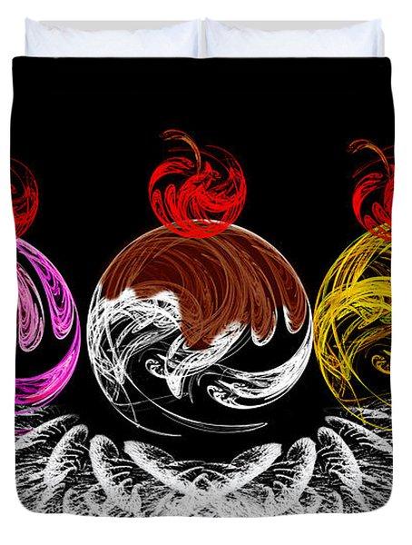 Hot Fudge Ice Cream Boat Duvet Cover by Andee Design