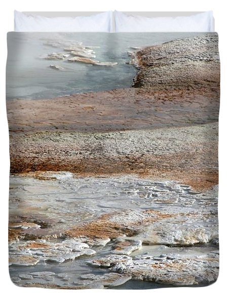 Hot Springs Abstract Two Duvet Cover by Sabrina L Ryan