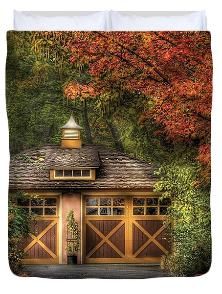 House - Classy Garage Duvet Cover by Mike Savad