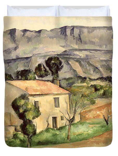 House In Provence Duvet Cover by Paul Cezanne