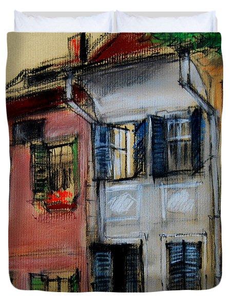 Houses In Transylvania 1 Duvet Cover by Mona Edulesco