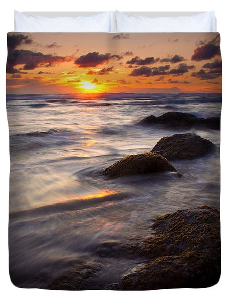 Hug Point Tides Duvet Cover by Mike  Dawson