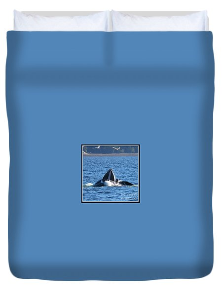 Humpback Whale Duvet Cover by Pamela Walrath