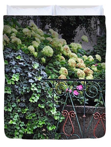 Hydrangeas Salzburg Duvet Cover by Mary Machare
