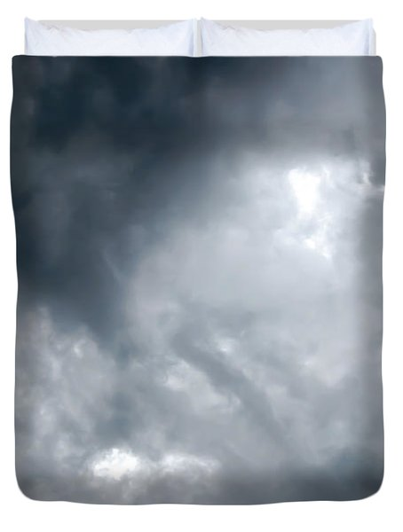 I Am No Storm Chaser Cloud Duvet Cover by Andee Design