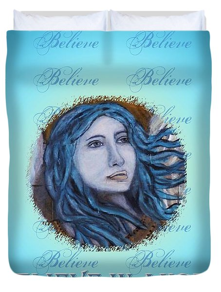 I Believe In Angels Duvet Cover by The Art With A Heart By Charlotte Phillips