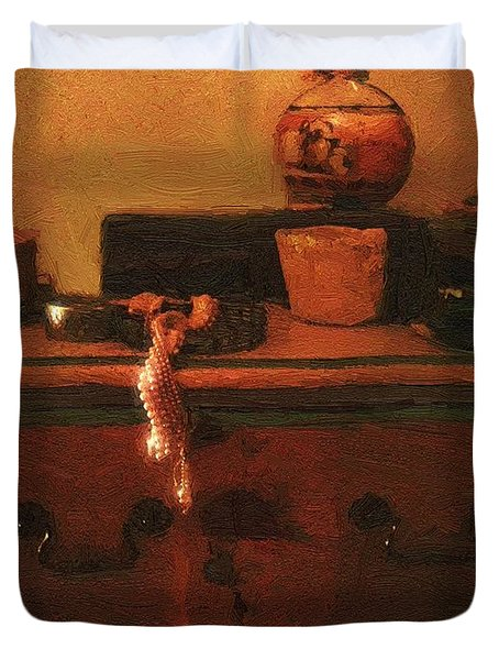 I Do Love Pearls Duvet Cover by RC deWinter