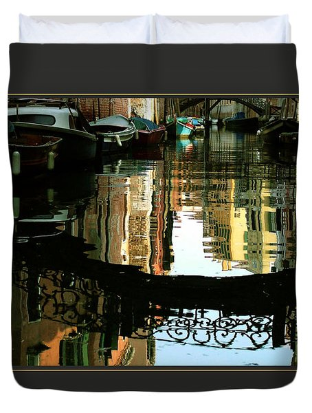 I Focus On Good Things Venice Duvet Cover by Donna Corless
