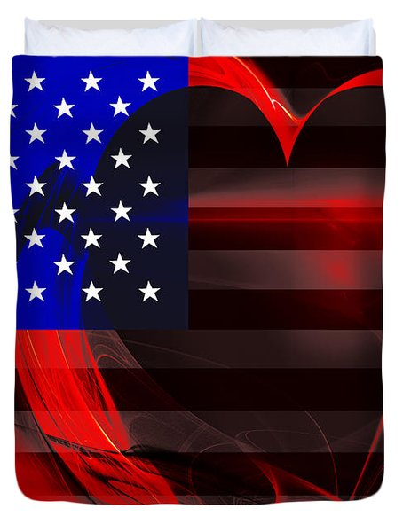 I Love America Duvet Cover by Wingsdomain Art and Photography