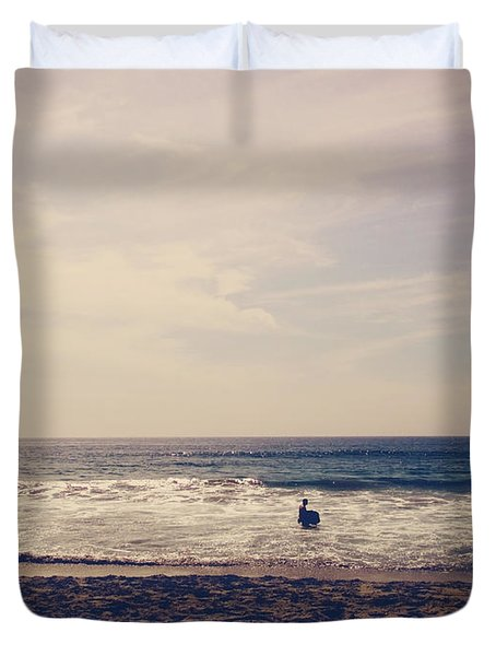 I Want To Swim In The Ocean With You Duvet Cover by Laurie Search