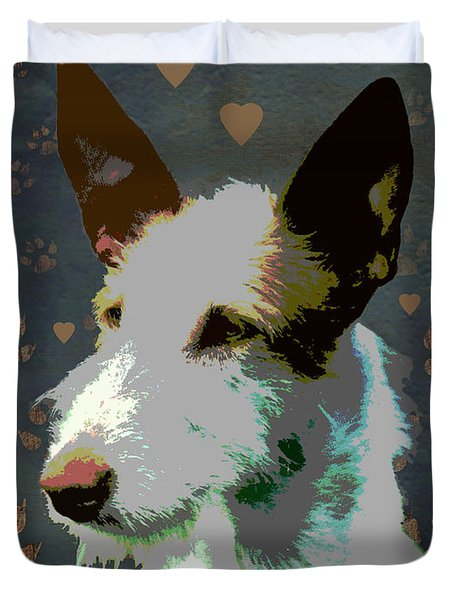 Ibizan Hound Duvet Cover by One Rude Dawg Orcutt