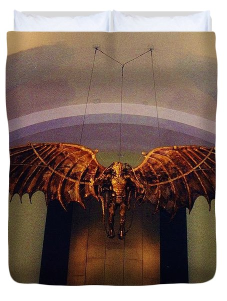 Icarus in the Louis Armstrong International Airport in New Orleans Duvet Cover by John Malone