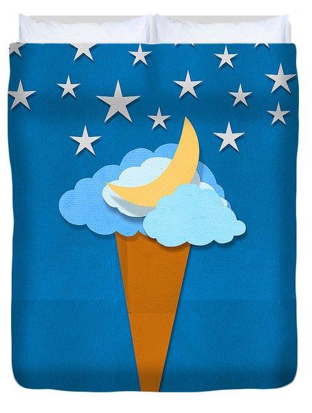ice cream design on hand made paper Duvet Cover by Setsiri Silapasuwanchai